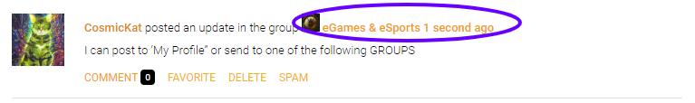 Post via Groups